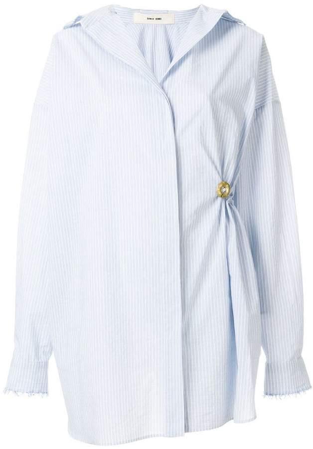Damir Doma striped gathered shirt