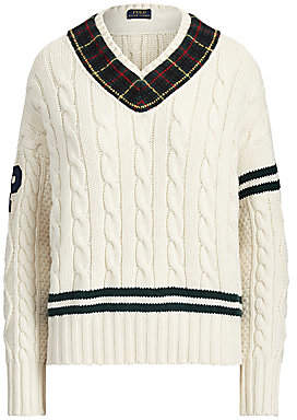 Polo Ralph Lauren Women's Cable Knit Cricket Sweater