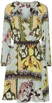 Etro Wrap-effect Printed Silk Crepe De Chine Dress - Mint