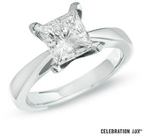 Zales Celebration Lux® 3 CT. Princess-Cut Diamond Solitaire Engagement Ring in 14K White Gold (I/SI2)