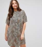 Junarose Animal Print Shirt Dress