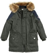 Armani Junior Padded Cotton Canvas Parka