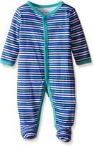 Tommy Hilfiger Baby Boys' Stripe Printed Interlock Footed Sleeper