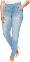 Jag Jeans Plus Size Peri Pull-On Straight Comfort Denim in Blue Issue Women's Jeans