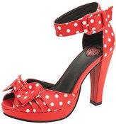 T.U.K. Red & White Polka Dot Starlet Ankle-Strap Sandal