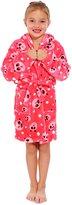 Simplicity Children's Hooded Robe w/ Animal Print Bath Accessory, S