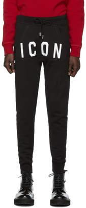 DSQUARED2 Black Icon Sweatpants