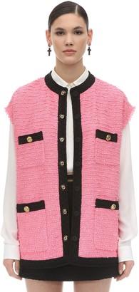 Gucci Oversize Cotton Blend Tweed Vest