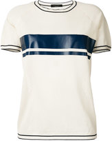 Roberto Collina stripe short sleeve T-shirt - women - Cotton - L