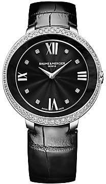 Baume & Mercier Women's Promesse Stainless Steel & Alligator Strap Watch