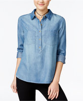 Jessica Simpson Poppy Chambray Blouse