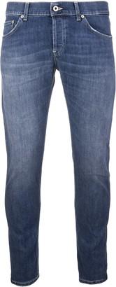 Dondup Mius Low Rise Indigo Blue Stone Washed Man Jeans