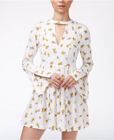 Free People Tegan Printed Cutout Mini Dress