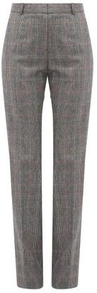 Pallas Paris Fulham Checked Wool Straight-leg Trousers - Grey Multi