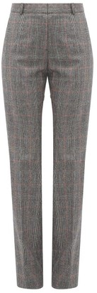 Pallas X Claire Thomson-jonville - Fulham Checked Wool Straight-leg Trousers - Womens - Grey Multi
