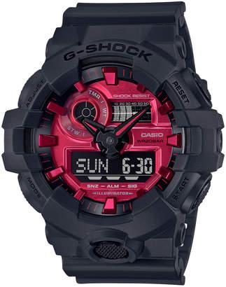G-Shock G Shock Analog-Digital GA700AR-1A Black & Red Watch