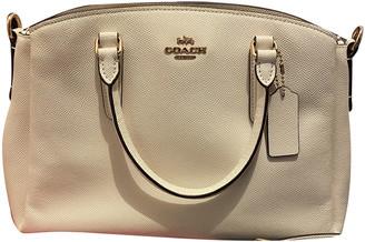 Coach Crossgrain Kitt Carry All White Leather Handbags