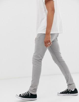 AllSaints cigarette fit jeans in gray wash