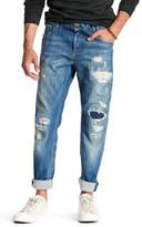 Scotch & Soda Skim Distressed Straight Leg Skinny Fit Jeans