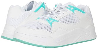 Lacoste Court Slam Dynam 01201SFA (White/Turquoise) Women's Shoes