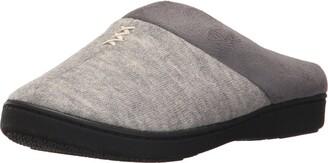 Isotoner Women's Microsuede KnitMarisol Hoodback Slippers