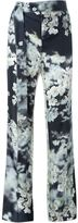 Calvin Klein floral print tailored trousers - women - Cotton/Cupro - 38