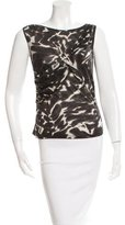 Magaschoni Wool Abstract Print Top