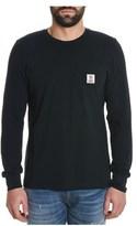Franklin & Marshall Men's Black Cotton T-shirt.