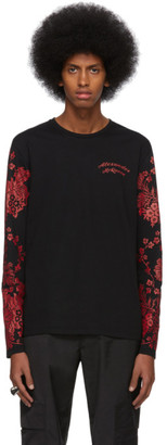 Alexander McQueen Black Japanese Ivy Long Sleeve T-Shirt