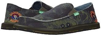 Sanuk Vagabond Grateful Dead (Green/Navy) Men's Shoes