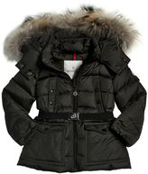 Moncler Genet Nylon Down Jacket W/ Murmansky Fur