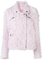 Giamba tweed biker jacket - women - Cotton/Cupro/Polyamide/Wool - 40