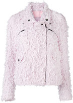 Giamba tweed biker jacket - women - Cotton/Polyamide/Cupro/Wool - 44