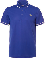 Lacoste Tennis - Contrast-tipped Piqué Tennis Polo Shirt