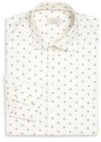 Eton Brighton Contemporary-Fit Plane-Print Cotton Dress Shirt