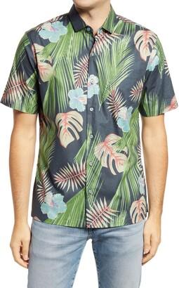 Tori Richard Tropic Haze Cotton Camp Shirt
