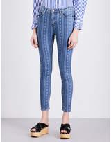 Sandro Star-print skinny mid-rise jeans