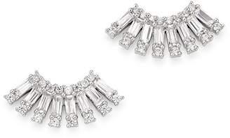 Bloomingdale's KC Designs 14K White Gold Diamond Mosaic Stud Earrings