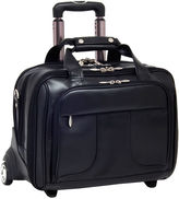 McKlein McKleinUSA Chicago 15.6 Leather Detachable -Wheeled Laptop Overnight with Removable Briefcase