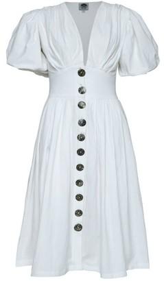 State Of Georgia The Jaime Midi Dress In White