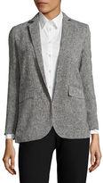 Ellen Tracy Petite Tweed-Look Blazer