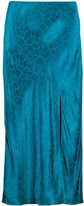Andamane Bias-Cut Midi Skirt