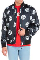 Love Moschino Peace Sign Padded Bomber Jacket