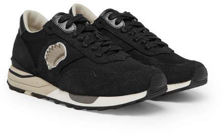 Visvim Roland Suede and Mesh Sneakers - Black