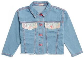 Billieblush Sequin-Panelled Denim Jacket (4-12 Years)