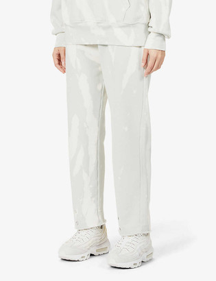 LES TIEN Relaxed-fit high-rise cotton-jersey jogging bottoms
