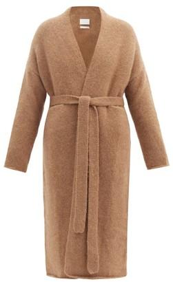 LAUREN MANOOGIAN Belted Alpaca And Wool-blend Cardigan - Tan