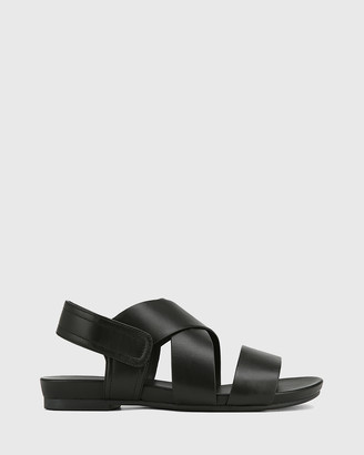 Wittner - Women's Black Sandals - Leena Leather Open Toe Flat Sandals - Size One Size, 36 at The Iconic
