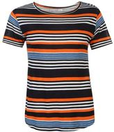 Full Circle Womens Stripe Swing T Shirt Tee Top Lightweight Short Sleeve
