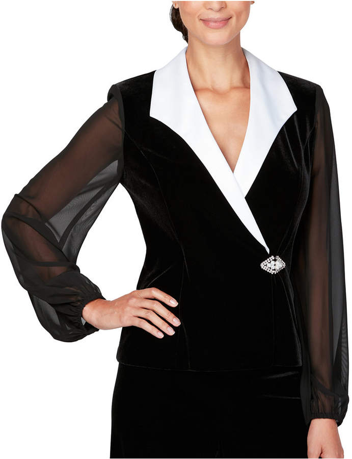 Alex Evenings Petite Velvet Jacket